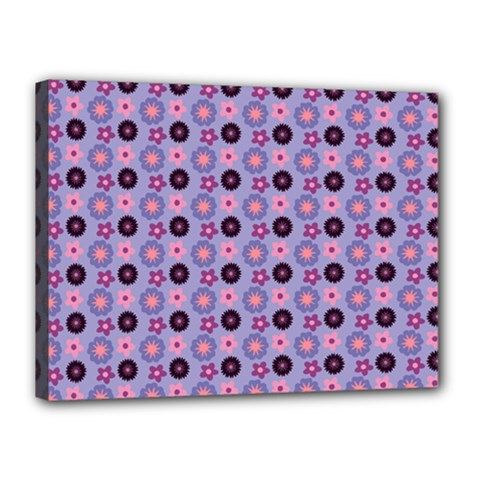 Cute Floral Pattern Canvas 16  X 12  (framed) by creativemom