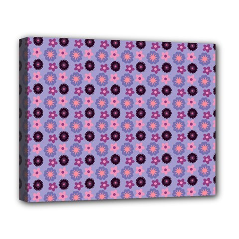 Cute Floral Pattern Deluxe Canvas 20  X 16  (framed) by creativemom