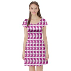 Cute Pretty Elegant Pattern Short Sleeve Skater Dress by creativemom