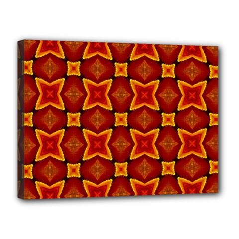Cute Pretty Elegant Pattern Canvas 16  X 12  (framed)