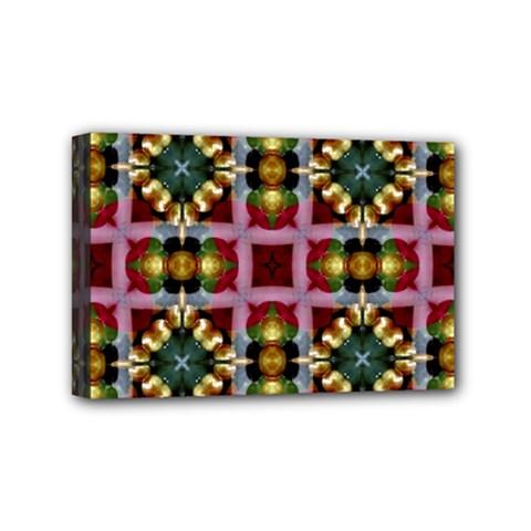 Cute Pretty Elegant Pattern Mini Canvas 6  X 4  (framed) by creativemom