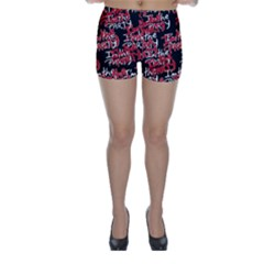 I Am The Party Text Quote Skinny Shorts by dflcprintsclothing