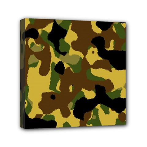 Camo Pattern  Mini Canvas 6  x 6  (Framed) by Colorfulart23