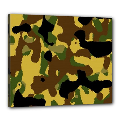 Camo Pattern  Canvas 24  x 20  (Framed) by Colorfulart23
