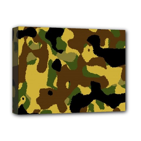 Camo Pattern  Deluxe Canvas 16  X 12  (framed)  by Colorfulart23