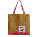 Foodie Zipper Tote 2 - Zipper Grocery Tote Bag