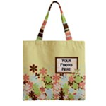 Spring Blossoms Zipper Tote 2 - Zipper Grocery Tote Bag