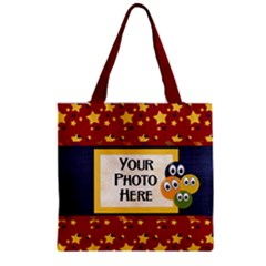 Zipper Grocery Tote Bag