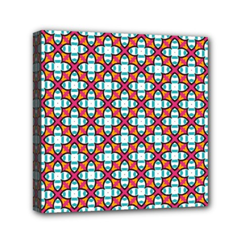Cute Pretty Elegant Pattern Mini Canvas 6  X 6  (framed) by creativemom
