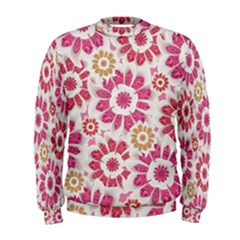 Floral Print Collage Pink Men s Sweatshirt by dflcprintsclothing