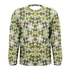 Neo Noveau Style Floral Print Long Sleeve T-shirt (Men) by dflcprintsclothing