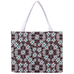 Modern Floral Geometric Pattern Tiny Tote Bag by dflcprints