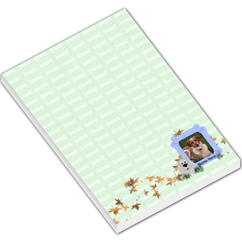 Green Bones Large By Chere s Creations   Large Memo Pads   Smgy96nv6sfv   Www Artscow Com