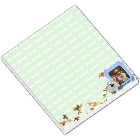 Green Bones Small Memo Pad By Chere s Creations   Small Memo Pads   Nfonycglstpc   Www Artscow Com