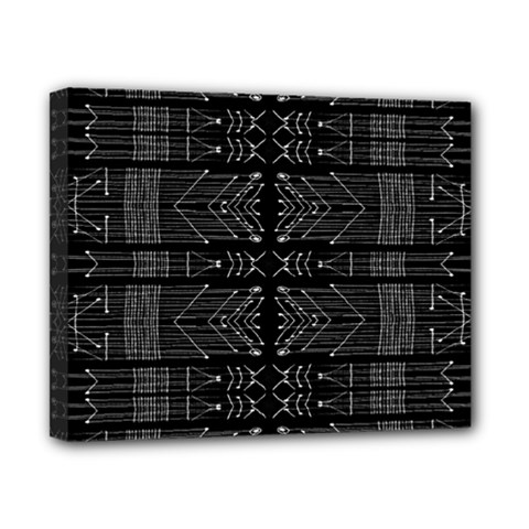 Black And White Tribal  Canvas 10  X 8  (framed) by dflcprints