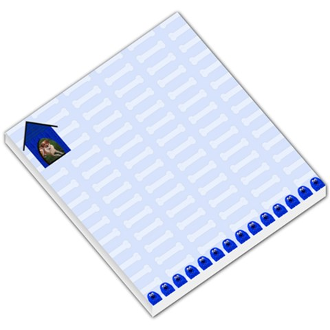 Blue Bones Small Memo Pad By Chere s Creations   Small Memo Pads   55pkt4d78vw1   Www Artscow Com