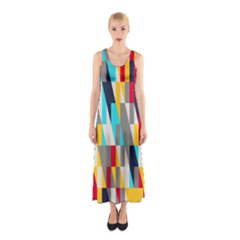 Colorful shapes Full Print Maxi Dress