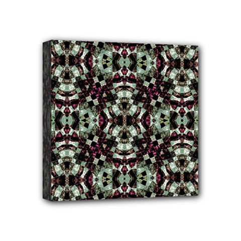 Geometric Grunge Mini Canvas 4  X 4  (framed) by dflcprints