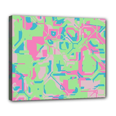 Pastel Chaos Deluxe Canvas 24  X 20  (stretched) by LalyLauraFLM