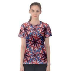 Heart Sahaped England Pattern Print Women s Sport Mesh Tee by dflcprintsclothing
