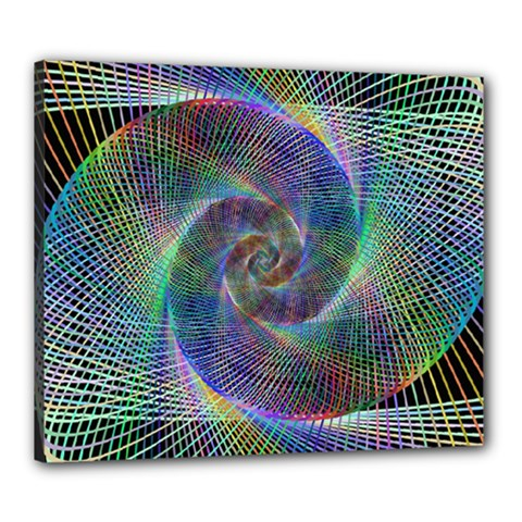 Psychedelic Spiral Canvas 24  X 20  (framed) by StuffOrSomething