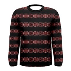 Tribal Ornate Print Long Sleeve T Shirt (men)