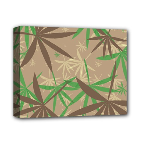 Leaves Deluxe Canvas 14  X 11  (stretched) by LalyLauraFLM