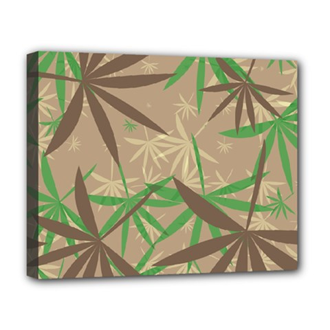 Leaves Deluxe Canvas 20  X 16  (stretched) by LalyLauraFLM