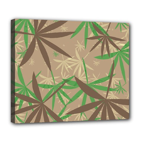 Leaves Deluxe Canvas 24  X 20  (stretched) by LalyLauraFLM