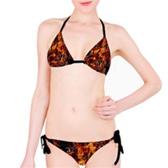 On Fire Print Bikini