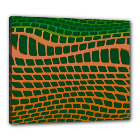 Distorted Rectangles Canvas 24  X 20  (stretched) by LalyLauraFLM