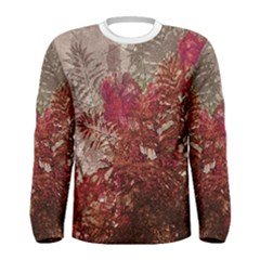 Floral Print Collage  Long Sleeve T-shirt (Men) by dflcprintsclothing