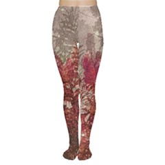 Floral Print Collage  Tights by dflcprintsclothing