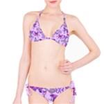 Purple Awareness Butterflies Bikini