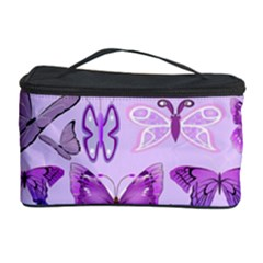 Purple Awareness Butterflies Cosmetic Storage Case by FunWithFibro