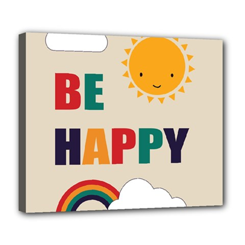 Be Happy Deluxe Canvas 24  X 20  (framed) by Kathrinlegg