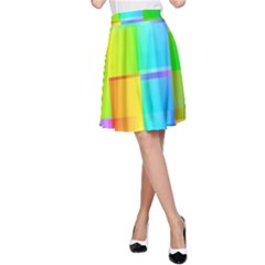 Colorful Gradient Shapes A Line Skirt by LalyLauraFLM