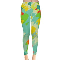 Smudged shapes Leggings by LalyLauraFLM