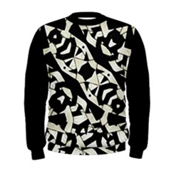 Black and White Print Men s Sweatshirt by dflcprintsclothing