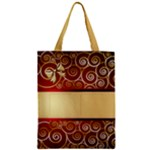 Regal and Red Zipper classic Tote Bag