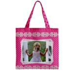 Little Lady Zipper grocery Tote Bag