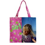 All Girl Zipper grocery Tote Bag