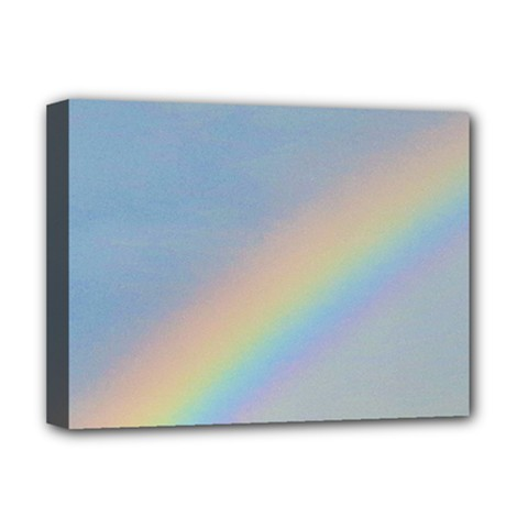 Rainbow Deluxe Canvas 16  X 12  (framed)  by yoursparklingshop