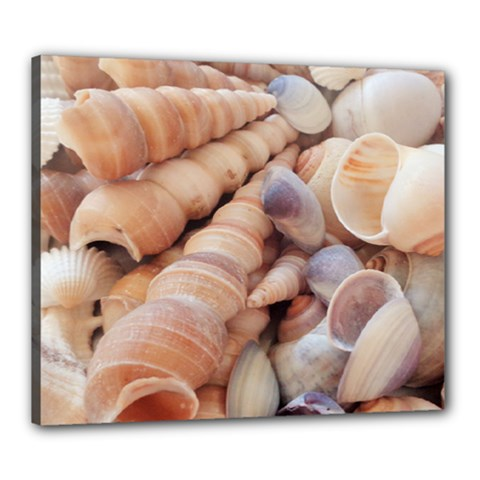 Seashells 3000 4000 Canvas 24  X 20  (framed) by yoursparklingshop