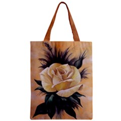 Yelow Rose Classic Tote Bag by ArtByThree