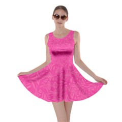 Abstract Stars In Hot Pink Skater Dress