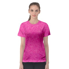 Abstract Stars In Hot Pink Women s Sport Mesh Tee by StuffOrSomething