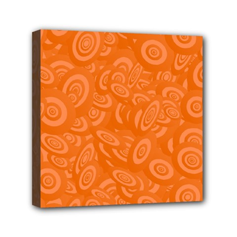 Orange Abstract 45s Mini Canvas 6  X 6  (framed) by StuffOrSomething