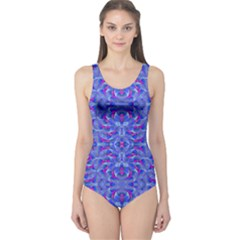 Modern Ornate Print  Women s One Piece Swimsuit by dflcprintsclothing
