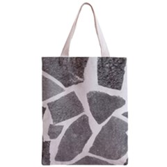 Grey White Tiles Pattern Classic Tote Bag by yoursparklingshop